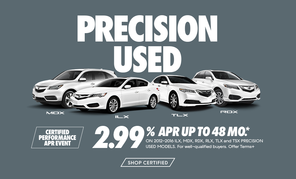 Pre Owned Vehicles >> Acura Certified Acura Specials And Finance Offers On Certified Pre